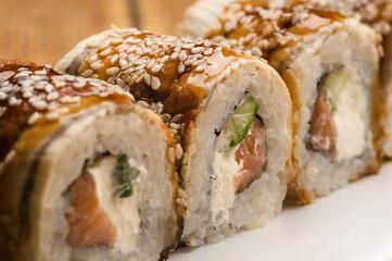 Obraz na Szkle delicious sushi rolls