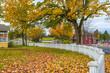 Autumn Small Town America Landscape