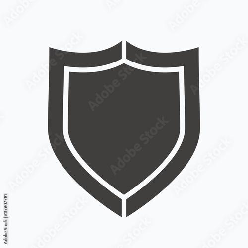 Fotografie, Obraz  Shield protection icon. Defense equipment sign.