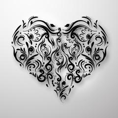 Fototapetaornamental flowers heart