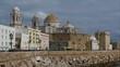 the old coastal city of cadiz in spain