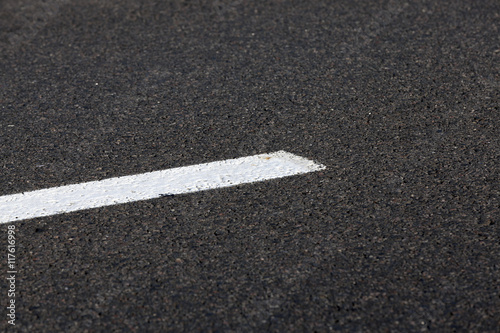 markings on the road