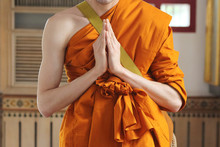 Monk Praying At The Ordination...