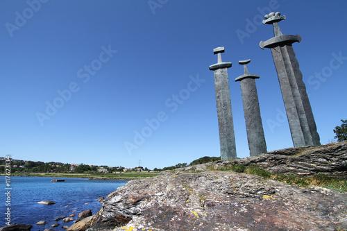 Fototapeta Sverd i Fjell Monument in Stavanger, Norway.