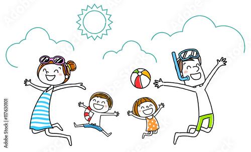 家族:海水浴