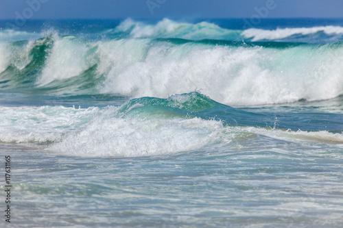 Stickers pour portes Eau Big Stormy Ocean Waves Background