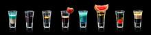 Groop Cocktails Shots A Black Background