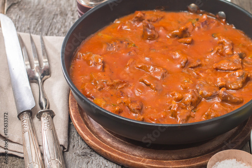 Beef stew with tomato sauce Wallpaper Mural