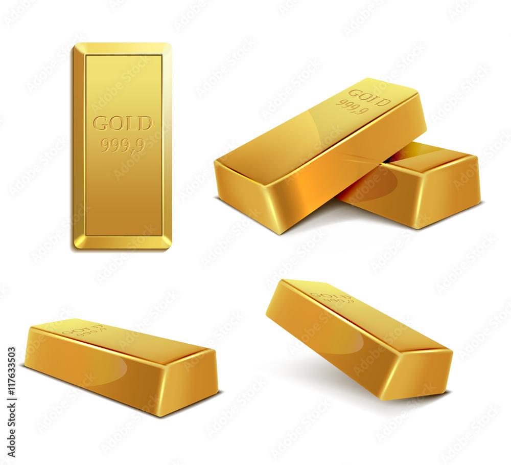 Fototapeta gold bar