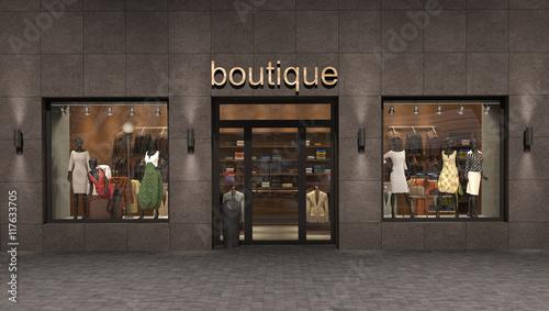 store exterior, 3d illustration Fotobehang