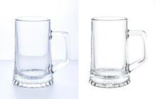 Empty Beer Mug Isolated On Whi...