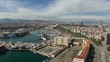 Sunny barcelona skyline and coastline