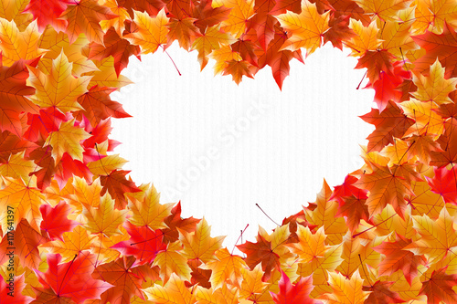 The Heart Of The Autumn Leaves Wallpaper Background
