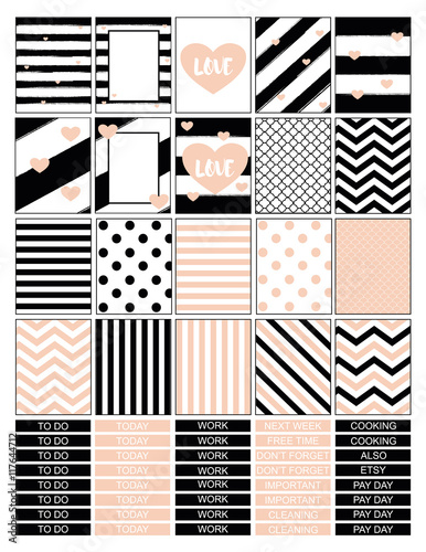 graphic about Bullet Journal Stickers Printable named Plan printable stickers.Fullbox stickers for bullet