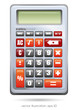 Realistic calculator isolated on white background. Vector illustration