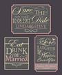 Set of wedding invitation quotes