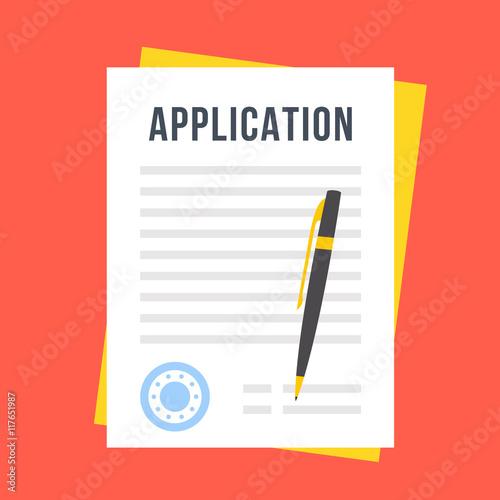 Vector application form Canvas Print