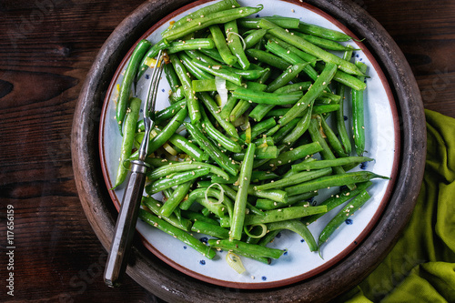 Photo  Fried long beans