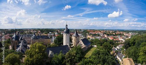 Aerial View Altenburg Thuringia Castle old medieval town Canvas Print
