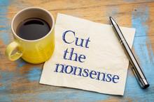 Cut The Nonsense