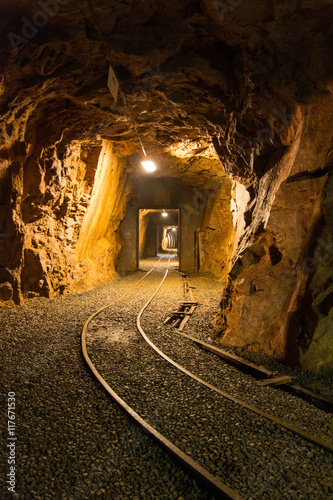 Walk the old abandoned mine, Harrachov, Czech Republic Tablou Canvas