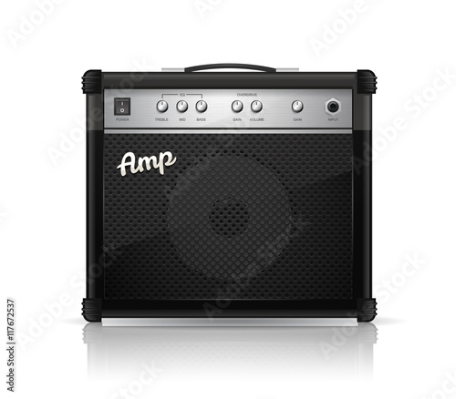 Guitar amplifier vector illustration Fotobehang