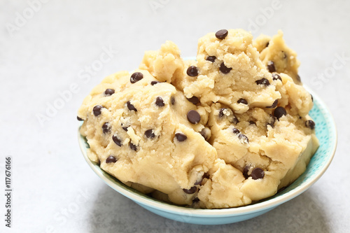Fotografie, Obraz  Cookie dough with chocolate chips