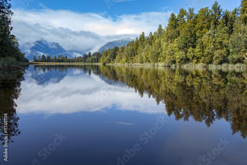 Foto op Aluminium Oceanië beautiful scenic of matheson lake important traveling destinatio
