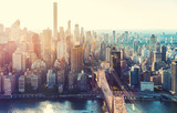 Fototapeta City - Aerial view of the New York City skyline