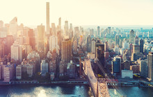 Aerial View Of The New York Ci...
