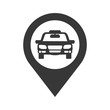 taxi transportation auto car vehicle service icon. Isolated and flat illustration. Vector graphic