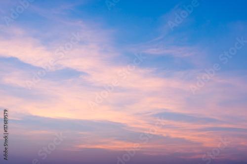 Obraz na plátne Fiery orange sunrise sky. Beautiful sky.