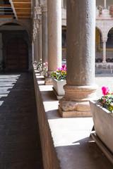 Fototapeta na wymiar beautiful stone pillars in Qurikancha