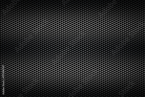 Fotografia, Obraz  black chrome grille. metal background.