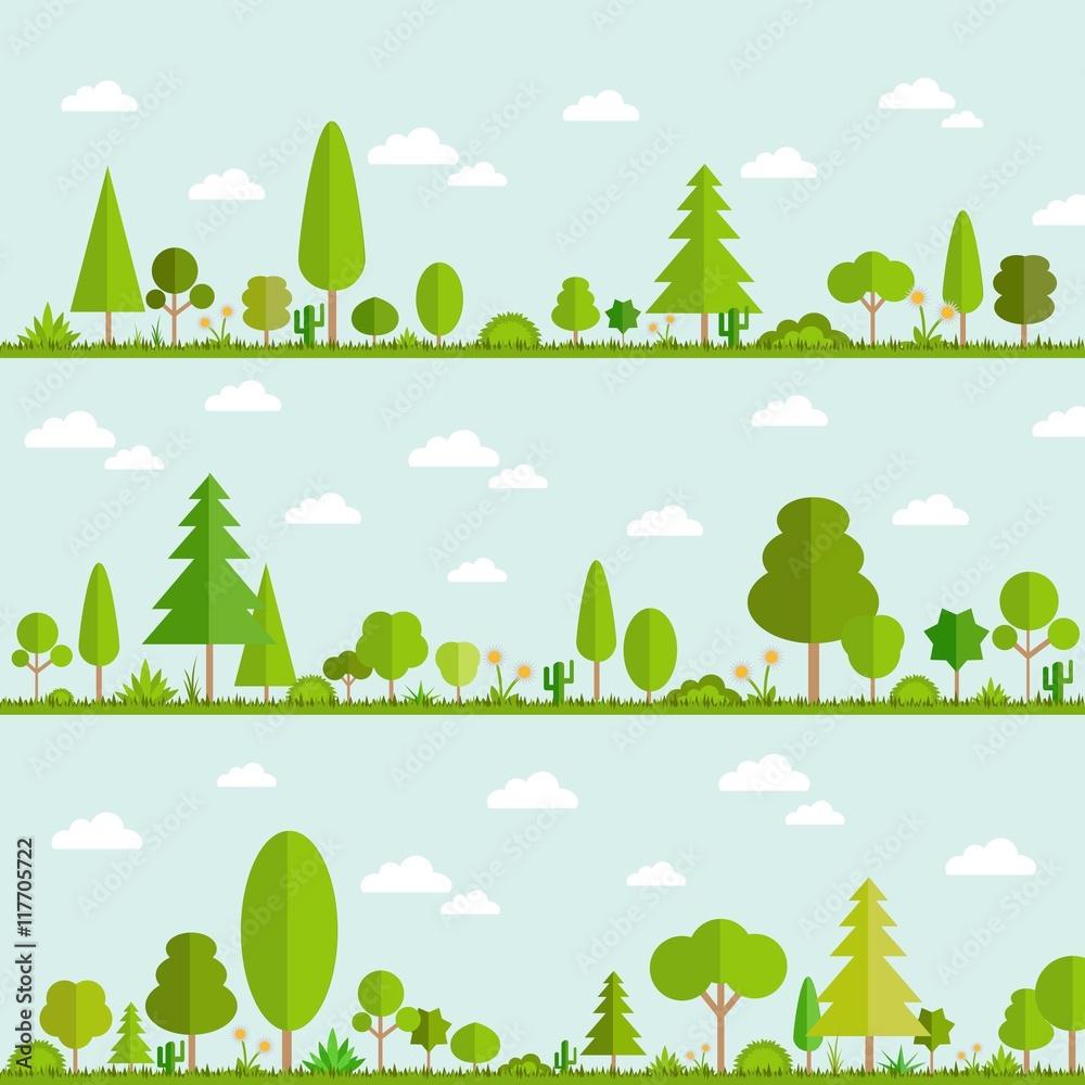 Fototapety, obrazy: Green trees