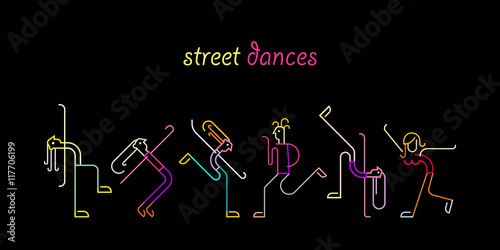 Garden Poster Abstract Art Street Dances