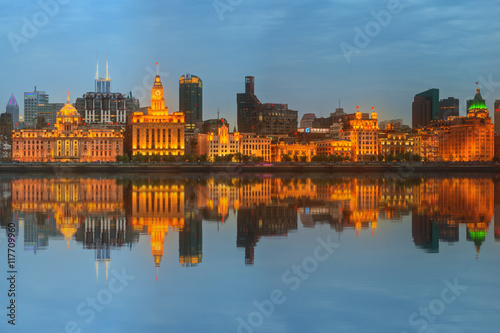 Skyline Of The Bund Marvellous Historical Buildings And Huangpu