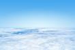 Leinwandbild Motiv flight over the clouds background