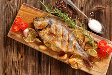 Grilled Fish On The Table