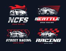 Sport Car Logo Illustration On...