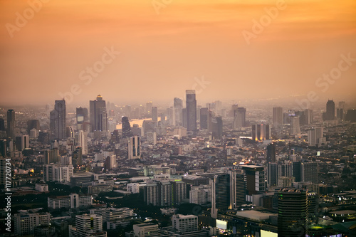 Photo  Bangkok cityscape in the business district