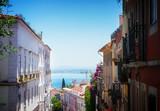 Fototapeta Na drzwi - street in old town of Lisbon