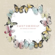Happy Birthday Card With Butterflies