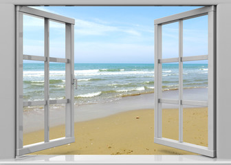 FototapetaOpen Window to the Summertime - 3D