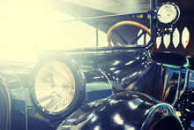 Style Antique Car With Toning ...