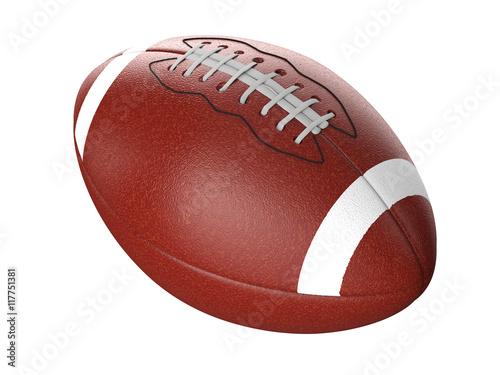 Fotobehang Wintersporten football ball isolated on white