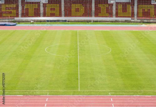Spoed Foto op Canvas Stadion empty stadium