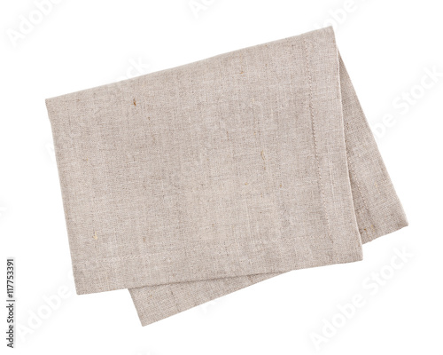 Linen napkin isolated on white background