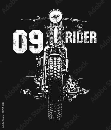 Fotografija Vintage Motorcycle hand drawn vector