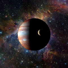 FototapetaSolar system planet Jupiter on nebula background. Elements of this image furnished by NASA